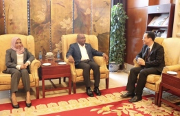 Minister of Foreign Affairs Abdulla Shahid arrives in Beijing, China, for his first official visit to the country since assuming office. PHOTO: FOREIGN MINISTRY