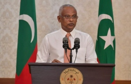 President Ibrahim Mohamed Solih speaking at a press briefing held at President's Office. PHOTO: PRESIDENT'S OFFICE