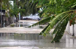 Flooded streets in a Maldivian island. PHOTO: United Nations Development Programme (UNDP)