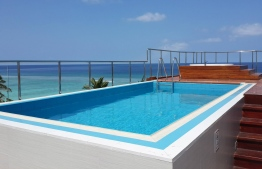 The rooftop pool at Airport Beach Hotel. PHOTO: HAWKS PVT LTD