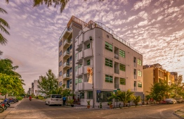 Airport Beach Hotel situated in reclaimed suburb Hulhumale'. PHOTO: HAWKS PVT LTD