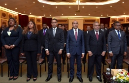 Supreme Court Justices taking part at the Judicial Symposium on family justice. PHOTO: NISHAN ALI / MIHAARU
