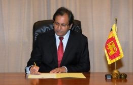 Sri Lankan Foreign Secretary Ravinatha Aryasinha. PHOTO: MIHAARU