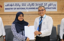 During the ceremony held to award various development projects. PHOTO: PLANNING MINISTRY