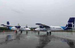 Manta Air's DHC-6 Twin Otter seaplanes in Calgary, Canada. PHOTO: MANTA AIR