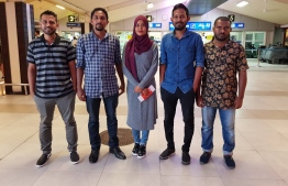 Local participants chosen for the Knowledge Co-Creation Program run by JICA (Japan International Cooperation Agency) at Velana International Airport. PHOTO: JICA