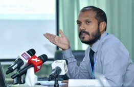 Press conference by Ministry of Finance. PHOTO: NISHAN ALI / MIHAARU.