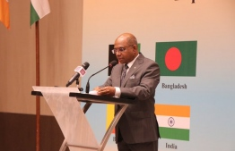 Minister of Foreign Affairs, Abdulla Shahid inaugurated the Third SAARC Education/ Higher Education Ministers Meeting at Crossroads Maldives. PHOTO: FOREIGN MINISTRY