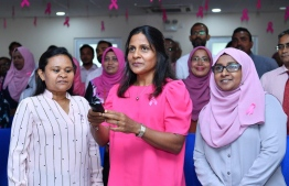 First Lady Fazna Ahmed launches Mammography services at Hulhumale' Hospital. PHOTO: PRESIDENTS OFFICE