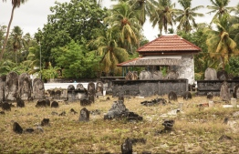 'Koagannu Gaburusthan', the 900-year old cemetery said to be the first built in Maldives to bury Muslims after the country's conversion to Islam in the 12th century. PHOTO: HAWWA AMAANY ABDULLA