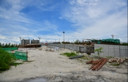 Ongoing development of Hulhumale' Phase Two. PHOTO/MIHAARU