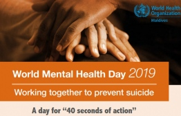 World Mental Health Day 2019 banner on suicide prevention. IMAGE/WHO