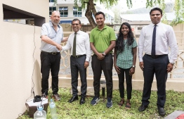 Soneva's mosquito traps were received by Speaker of Parliament Mohamed Nasheed. PHOTO: PARLIAMENT / TWITTER