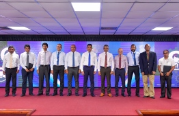 Vice President Faisal Naseem attended the ceremony held to launch Corporate Scholarship Scheme. PHOTO: NISHAN ALI / MIHAARU