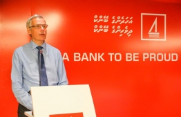 Bank of Maldives (BML) CEO and Managing Director Tim Sawyer. BML noted MVR 1.2 billion in profit following the end of the third quarter. PHOTO: BANK OF MALDIVES