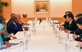 Foreign Minister Abdulla Shahid is part of the Maldivian delegation, which held official talks with the government of Japan on October 21, 2019. PHOTO/JAPAN FOREIGN MINISTRY