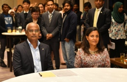 President Ibrahim Mohamed Solih and First Lady Fazna Ahmed attend a special reception to meet the Maldivian community in Japan. PHOTO/PRESIDENT'S OFFICE