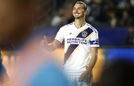Zlatan Ibrahimovic has confirmed his departure from Los Angeles Galaxy. PHOTO: Katharine Lotze / AFP