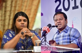 A case against Prosecutor General Aishath Bisham was filed the Anti Corruption Commission for allegedly exerting undue influence. PHOTO: HUSSAIN WAHEED / NISHAN ALI / MIHAARU