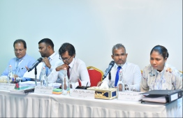 Members of the Judicial Service Commission (JSC). PHOTO: HUSSAIN WAHEED
