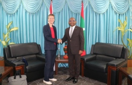 The first resident Ambassador of the United Kingdom calls on Foreign Minister Shahid. PHOTO: FOREIGN MIN