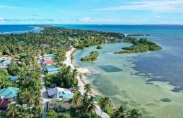 Aerial view of S.Hulhumeedhoo. PHOTO: HAWWA AMAANY ABDULLA / THE EDITION