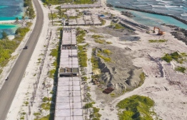 Aerial view of the Addu Police Academy being built under free Indian aid. PHOTO: MIHAARU FILES