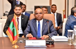 Foreign Minister Abdulla Shahid participates in the 19th Council of Ministers of IORA at Abu Dhabi. PHOTO/FOREIGN MINISTRY