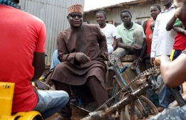 The nickname he is known by 'Makaho' means blind man in the Hausa language PHOTO: KOLA SULAIMON / AFP