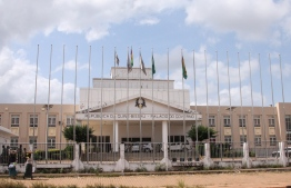 A picture taken on November 6, 2019 shows the Government Palace during a Council of Ministers in Bissau. - West African leaders on October 3 reiterated their support for Guinea-Bissau's Aristide Gomes, sacked as prime minister by the country's interim president three weeks ahead of a presidential election. (Photo by - / AFP)