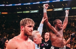 The first fight between KSI (R) and Logan Paul was hyped as the biggest event in internet history, ended in a majority draw. It was contested under amateur rules in August 2018 at Manchester, England, PHOTO: K.S.I / FACEBOOK