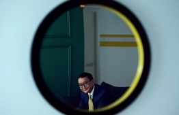 Cambodia's exiled opposition figurehead Sam Rainsy during an interview with AFP in Kuala Lumpur. PHOTO: MOHD RASFAN / AFP