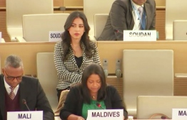 Maldivian representative at the 34th Universal Periodic Review (UPR) session. PHOTO: MINISTRY OF FOREIGN AFFAIRS