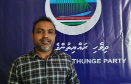 Dhivehi Rayythunge Party (DRP)'s newly appointed Vice-President, Ibrahim Shiham.