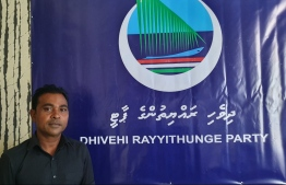 The new Secretary-General of Dhivehi Rayythunge Party (DRP), Abdulla Afeef.