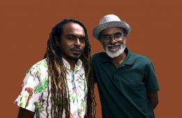 Environmentalists Hassan Ahmed (Beybe) (L) and Hussain Rasheed (Sendi). Sendi is the first Maldivian to be inducted into the International Scuba Diving Hall of Fame, while beybe operates an NGO called 'Save The Beach'.   PHOTO: AHMED AIHAM / THE EDITION