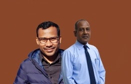 Co-Founders of the Cancer Society of Maldives Dr Abdul Malik (L) and cancer survivor Hussein Rasheed. PHOTO: AHMED AIHAM / THE EDITION