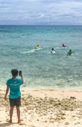 Surfers strike out to conquer the waves at the Soneva Surf Pro 2019, in Noonu Atoll. PHOTO/SONEVA