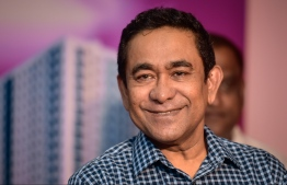 Former President Abdulla Yameen Abdul Gayoom. He is currently serving a five-year sentence in Maafushi Prison after bein convicted of money laundering charges. PHOTO: NISHAN ALI/ MIHAARU