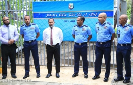 Minister of home affairs Imran Abdullah pictured at the ceremony held to inaugurate demolition work at Dhoonidhoo prison. PHOTO: HOME MINISTRY