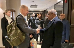 Minister of Foreign Affairs Abdulla Shahid concluded a three-day official visit to Finland on Friday. PHOTO: MINISTRY OF FOREIGN AFFAIRS