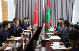 Foreign Minister Abdulla Shahid meets with the governor of Yunnan Province, China, Ruan Chengfa on December 2, 2019. PHOTO/FOREIGN MINISTRY