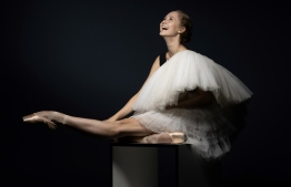 (FILES) In this file photo taken on October 16, 2019 Australian ballet dancer of the Paris Opera Ballet Bianca Scudamore poses during a photo session in Paris. (Photo by JOEL SAGET / AFP)