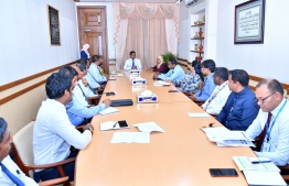 Vice President Faisal Naseem, Cabinet ministers and senior officials from state-owned enterprises discuss ways to provide more opportunities for persons with disabilities. PHOTO/PRESIDENT'S OFFICE