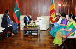 Minister of Foreign Affairs Abdulla Shahid meets with the Sri Lankan Minister of Foreign Relations Dinesh Gunawardena. PHOTO: SRI LANKAN MINISTRY OF FOREIGN RELATIONS
