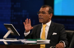 Speaker of Parliament Mohamed Nasheed pictured during the 'Ask Speaker' programme broadcast by PSM on December 7, 2019. PHOTO/MAJILIS