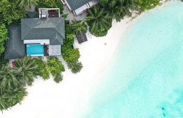 The two-storey 'Summer House' with its private swimming pool. PHOTO: HAWWA AMAANY ABDULLA / THE EDITION