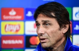Inter Milan's Italian head coach Antonio Conte speaks during a press conference on December 9, 2019 in Appiano Gentile, on the eve of the UEFA Champions League Group F football match Inter Milan vs Barcelona. (Photo by Miguel MEDINA / AFP)