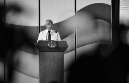 President Ibrahim Mohamed Solih during the event marking the 39th National Fishermen's Day at convention centre Dharubaaruge. PHOTO: PRESIDENT'S OFFICE