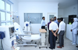 Vice President Faisal Naseem seen at the inauguration of the Dialysis Centre. PHOTO: MINISTRY OF HEALTH